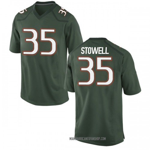 Youth Nike Chris Stowell Miami Hurricanes Game Green Alternate College Jersey