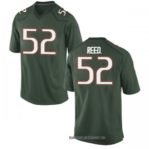 Youth Nike Cleveland Reed Jr. Miami Hurricanes Game Green Alternate College Jersey