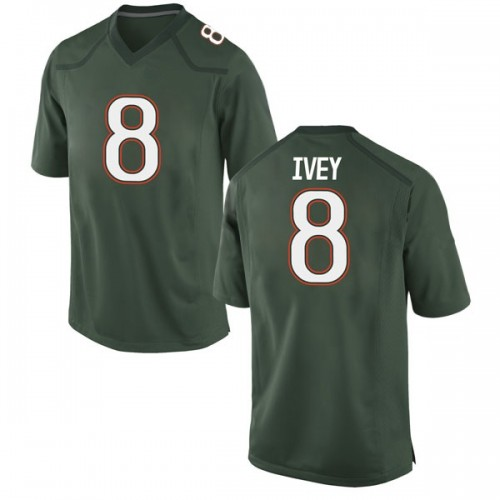 Youth Nike DJ Ivey Miami Hurricanes Replica Green Alternate College Jersey