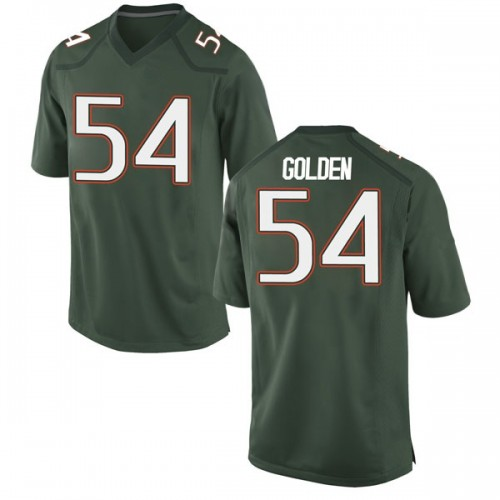 Youth Nike Devin Golden Miami Hurricanes Game Gold Green Alternate College Jersey