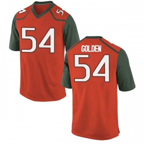 Youth Nike Devin Golden Miami Hurricanes Game Orange College Jersey