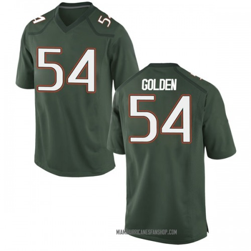 Youth Nike Devin Golden Miami Hurricanes Replica Gold Green Alternate College Jersey