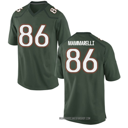 Youth Nike Dominic Mammarelli Miami Hurricanes Game Green Alternate College Jersey