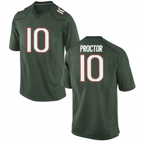 Youth Nike Dominic Proctor Miami Hurricanes Game Green Alternate College Jersey