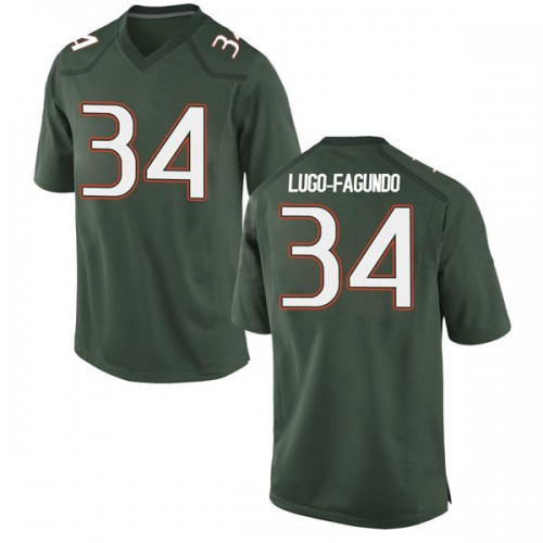 Youth Nike Elias Lugo-Fagundo Miami Hurricanes Game Green Alternate College Jersey