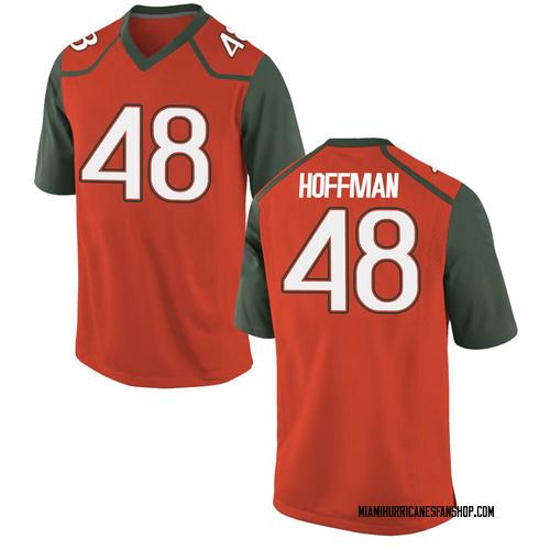 Youth Nike Jake Hoffman Miami Hurricanes Replica Orange College Jersey