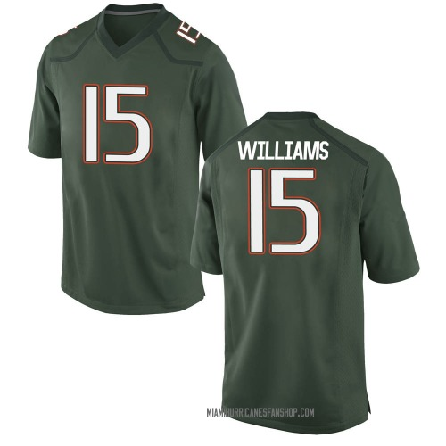 Youth Nike Jarren Williams Miami Hurricanes Game Green Alternate College Jersey