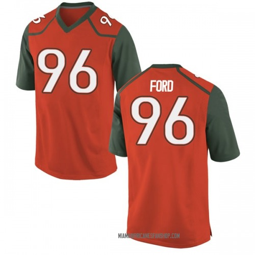 Youth Nike Jonathan Ford Miami Hurricanes Game Orange College Jersey