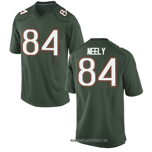 Youth Nike Josh Neely Miami Hurricanes Game Green Alternate College Jersey