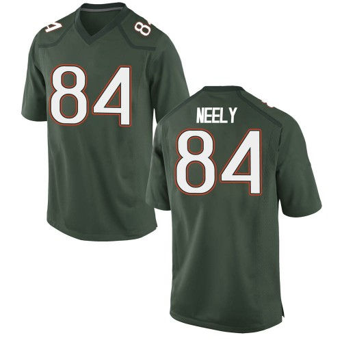 Youth Nike Josh Neely Miami Hurricanes Replica Green Alternate College Jersey