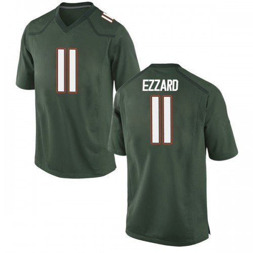 Youth Nike Marquez Ezzard Miami Hurricanes Replica Green Alternate College Jersey