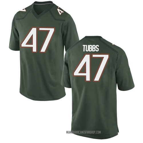 Youth Nike Mykel Tubbs Miami Hurricanes Game Green Alternate College Jersey