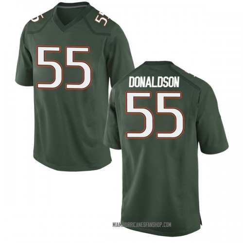 Youth Nike Navaughn Donaldson Miami Hurricanes Game Green Alternate College Jersey