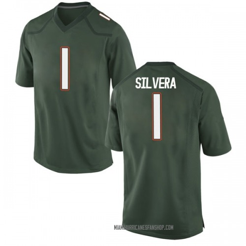 Youth Nike Nesta Jade Silvera Miami Hurricanes Game Green Alternate College Jersey
