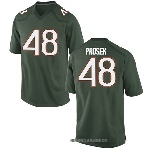 Youth Nike Robert Prosek Miami Hurricanes Game Green Alternate College Jersey