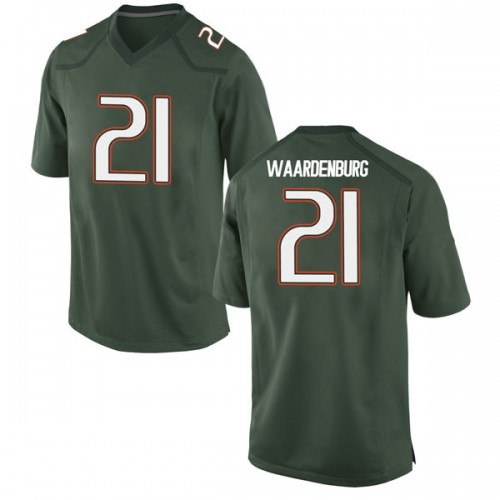 Youth Nike Sam Waardenburg Miami Hurricanes Game Green Alternate College Jersey
