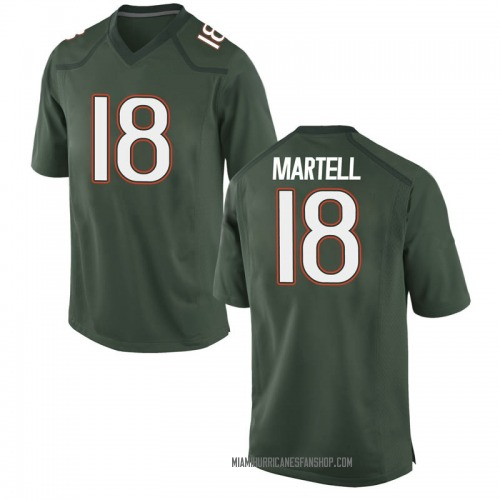 Youth Nike Tate Martell Miami Hurricanes Game Green Alternate College Jersey