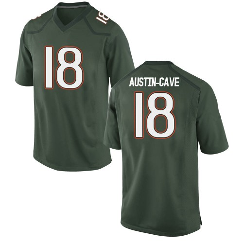 Youth Nike Tirek Austin-Cave Miami Hurricanes Replica Green Alternate College Jersey