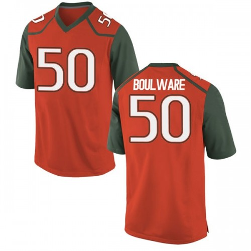 Youth Nike Venzell Boulware Miami Hurricanes Replica Orange College Jersey