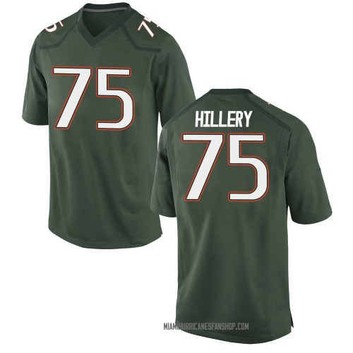 Youth Nike Zalon'tae Hillery Miami Hurricanes Game Green Alternate College Jersey