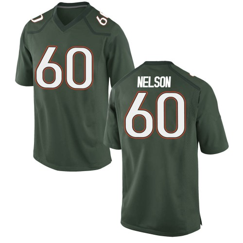 Youth Nike Zion Nelson Miami Hurricanes Game Green Alternate College Jersey