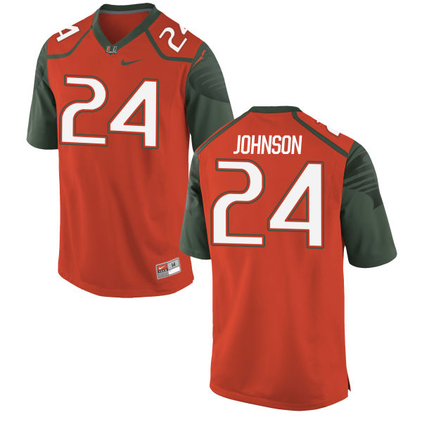Men's Nike Josh Johnson Miami Hurricanes Replica Orange Football Jersey